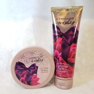 A Thousand Wishes body butter and lotion duo.